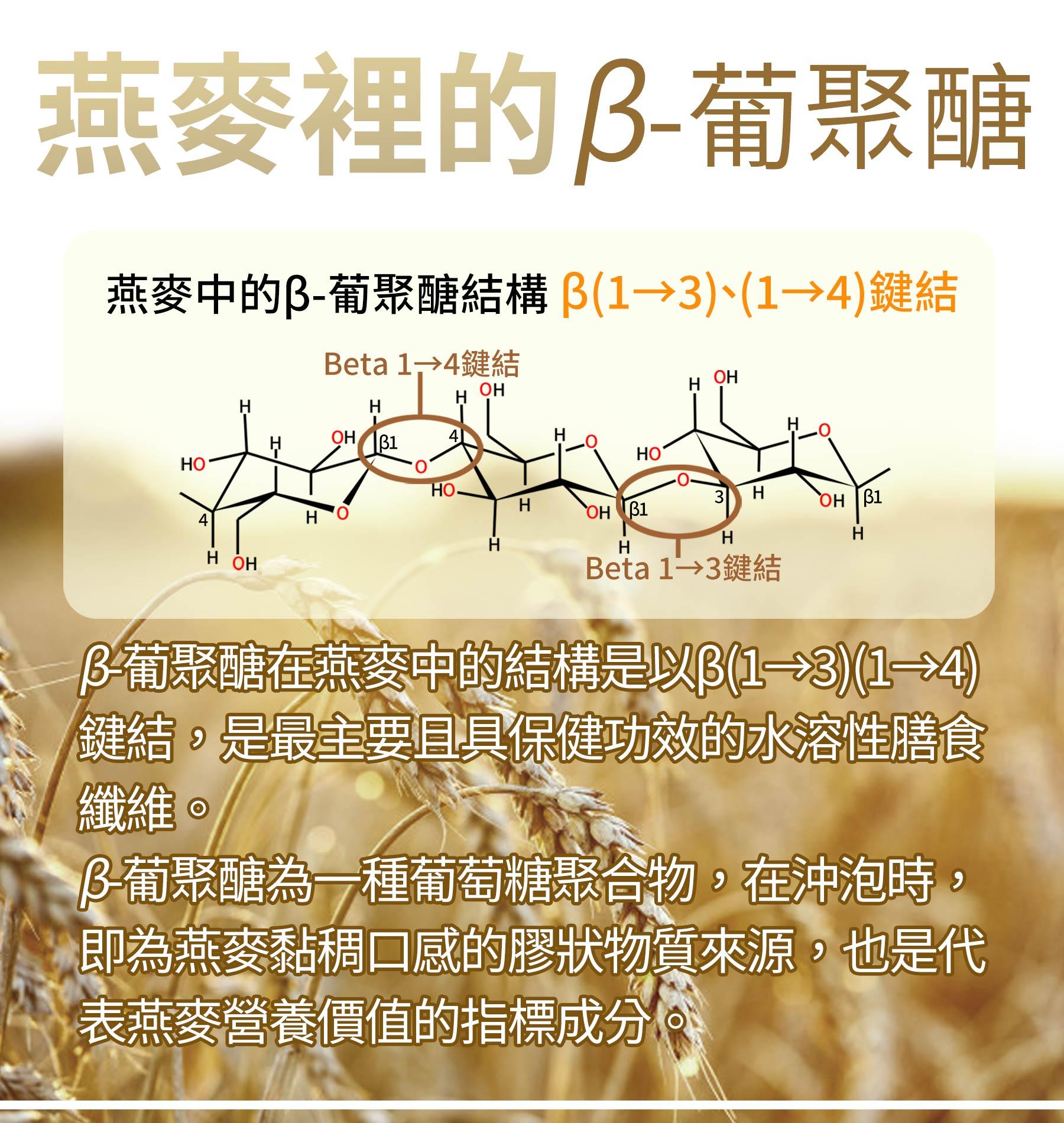 燕麥中含有的beta-葡聚醣