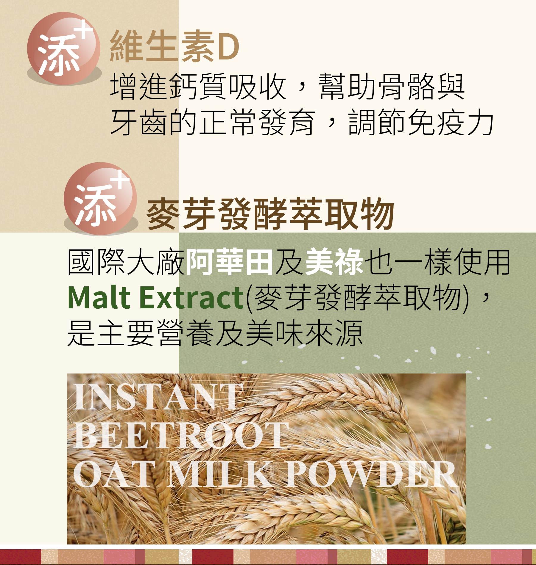 即溶甜菜根酵解燕麥奶含麥芽發酵萃取物
