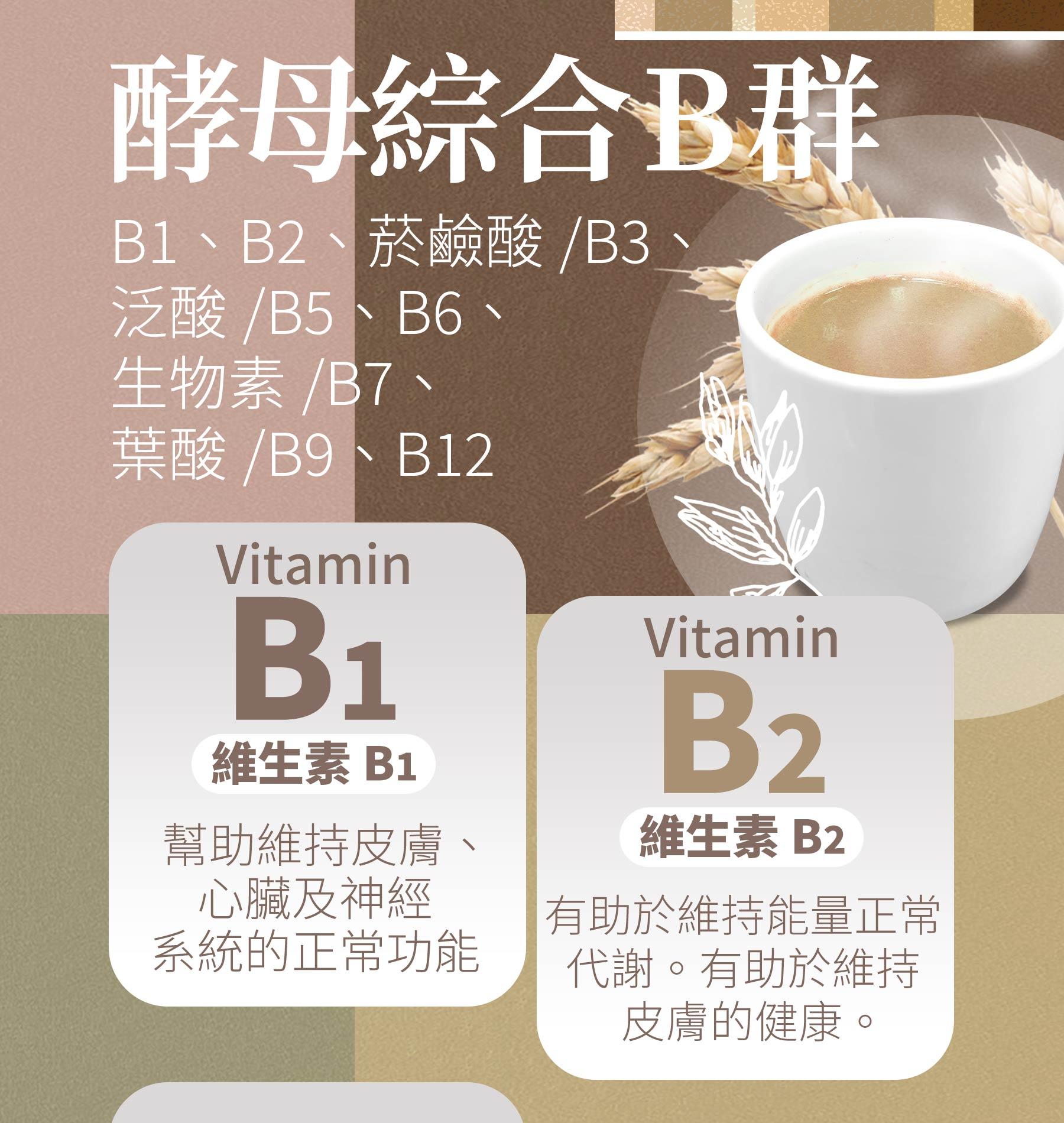 即溶葡聚醣酵解燕麥奶添加酵母綜合B群